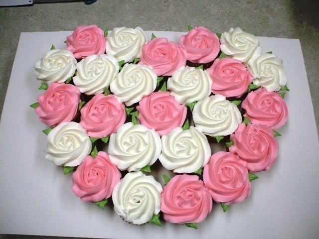 Valentine Cupcake Rose Cake