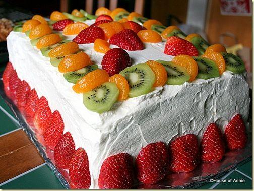 Vanilla Layer Cake with Fresh Fruit