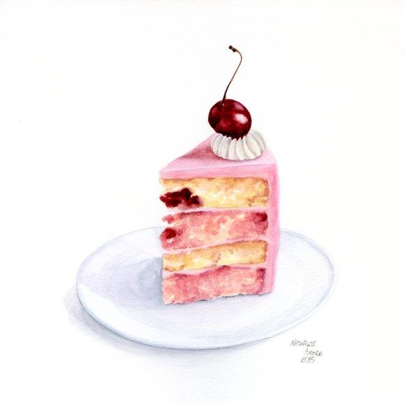 Watercolor Cake Painting