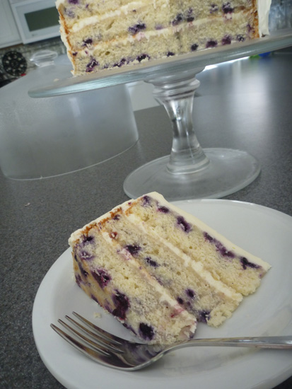 Wild Maine Blueberry Cake