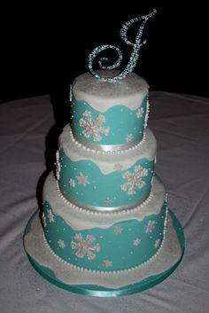 Winter Wonderland Sweet 16 Cake Ideas