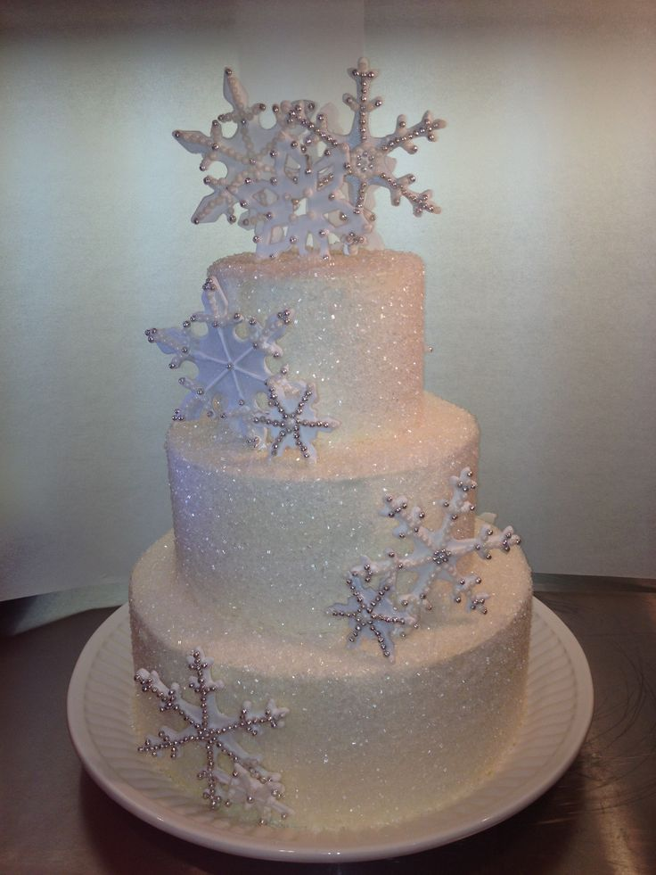 Winter Wonderland Sweet 16 Cake