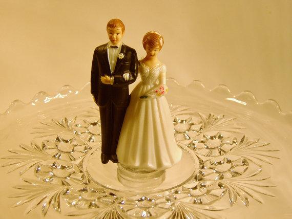 1960s Vintage Wedding Cake Topper