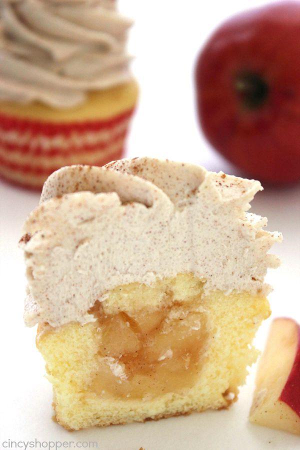Apple Pie Filling Cupcakes