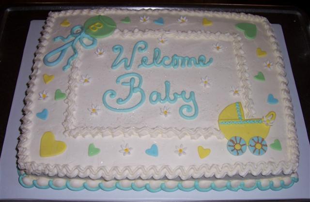 Baby Shower Sheet Cake Ideas