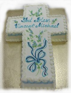 Baptism Cross Cakes Ideas