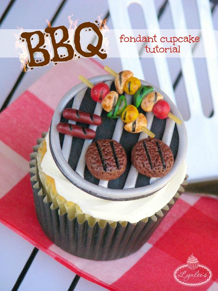 BBQ Grill Cupcake Cake