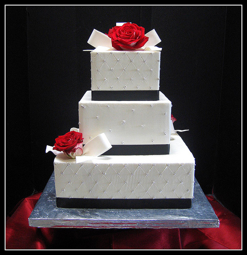 8 Photos of Simple Wedding Cakes Red Black White