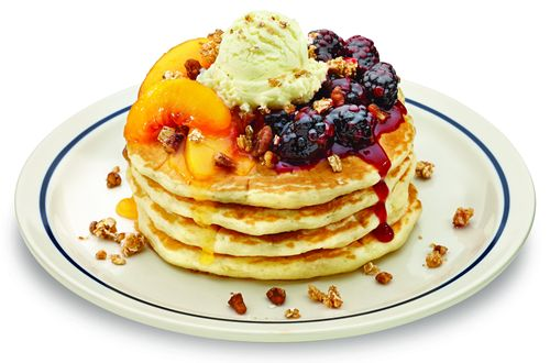 BlackBerry Peach Cobbler Pancakes Ihop