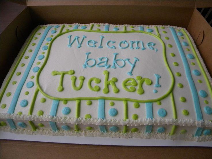 Boy Baby Shower Sheet Cake