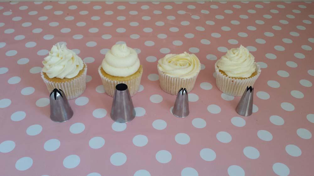 Buttercream Rose Swirls On Cupcake