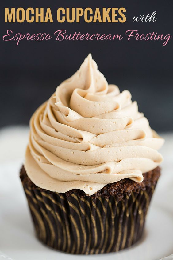 Coffee Mocha Cupcakes with Icing