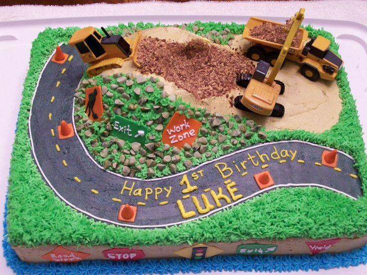 Construction Birthday Cake Idea
