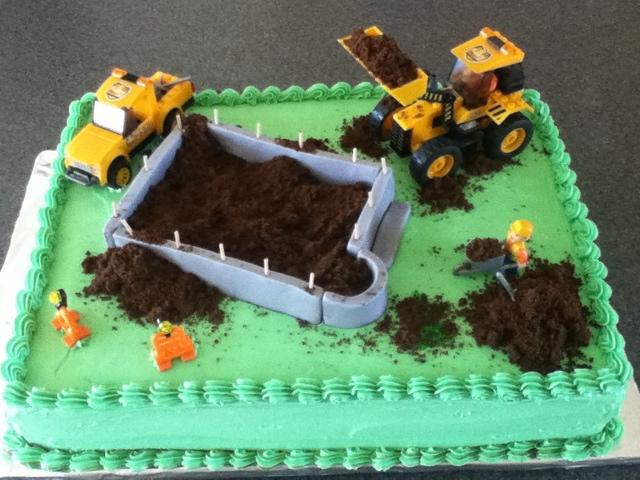Construction Sheet Cake