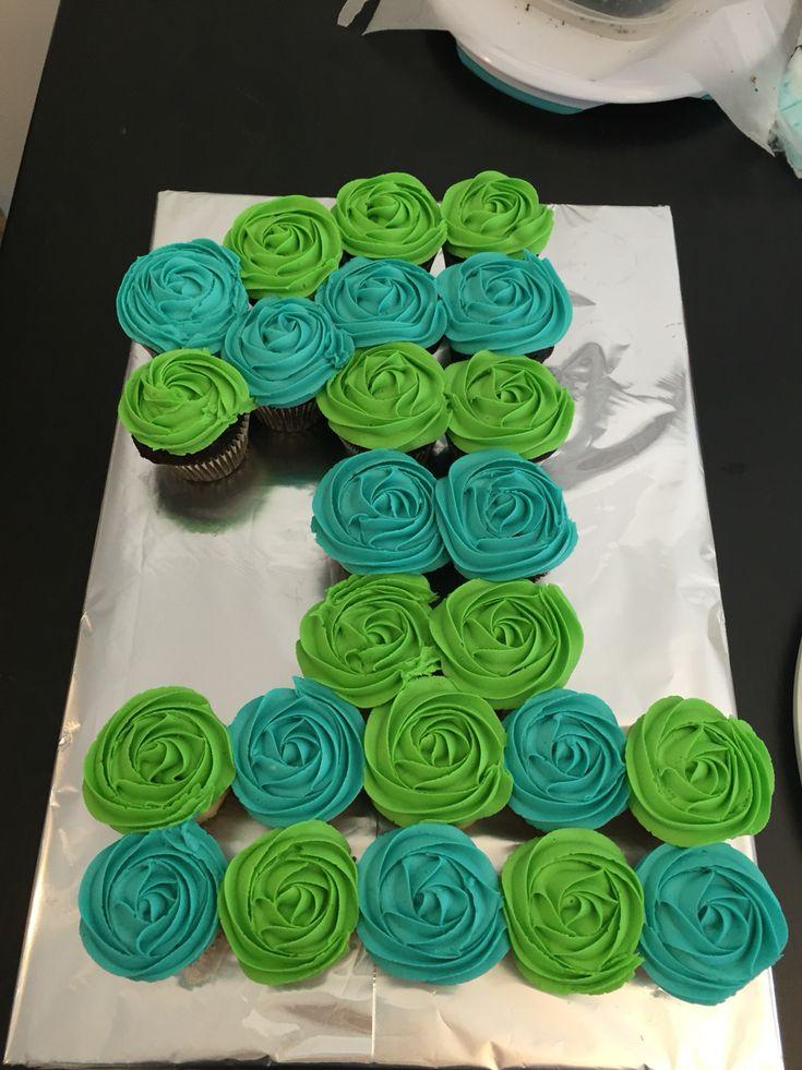 Cupcake First Birthday Cake
