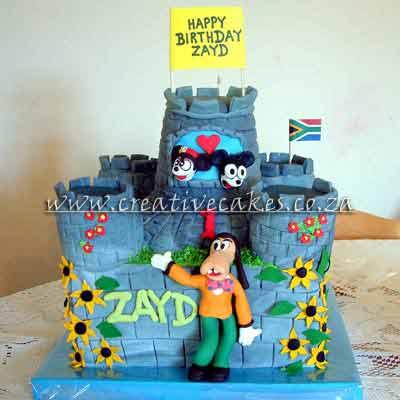 Disney Castle Birthday Cake