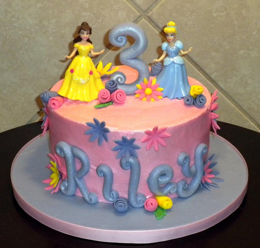 Disney Princess Birthday Party Cake