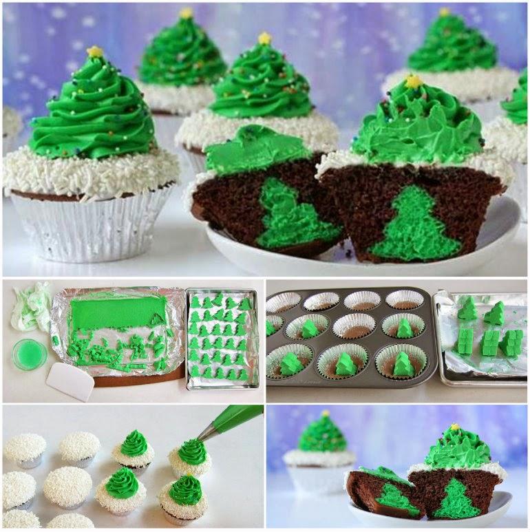 DIY Christmas Tree Cupcakes