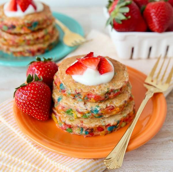 Fruity Pebbles Pancakes Confetti