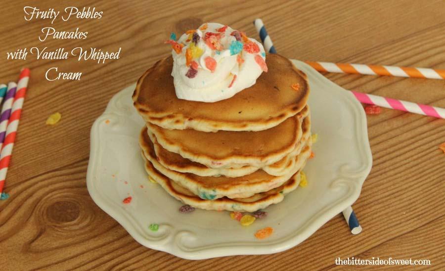 Fruity Pebbles Pancakes Whip Cream