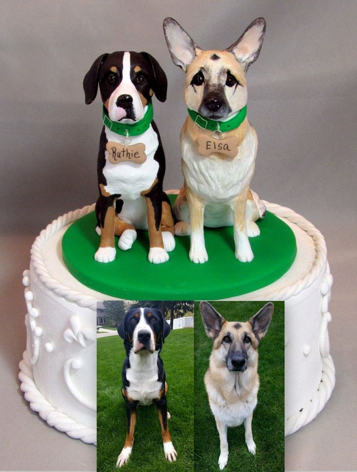 German Shepherd Dog Cake Topper