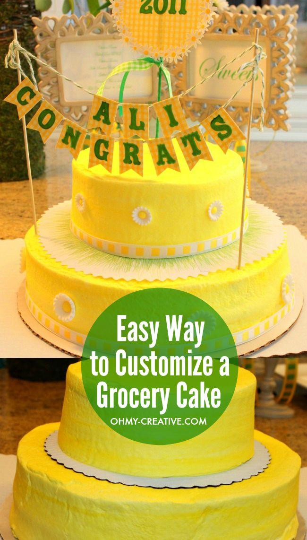 Grocery Store Birthday Cake Designs
