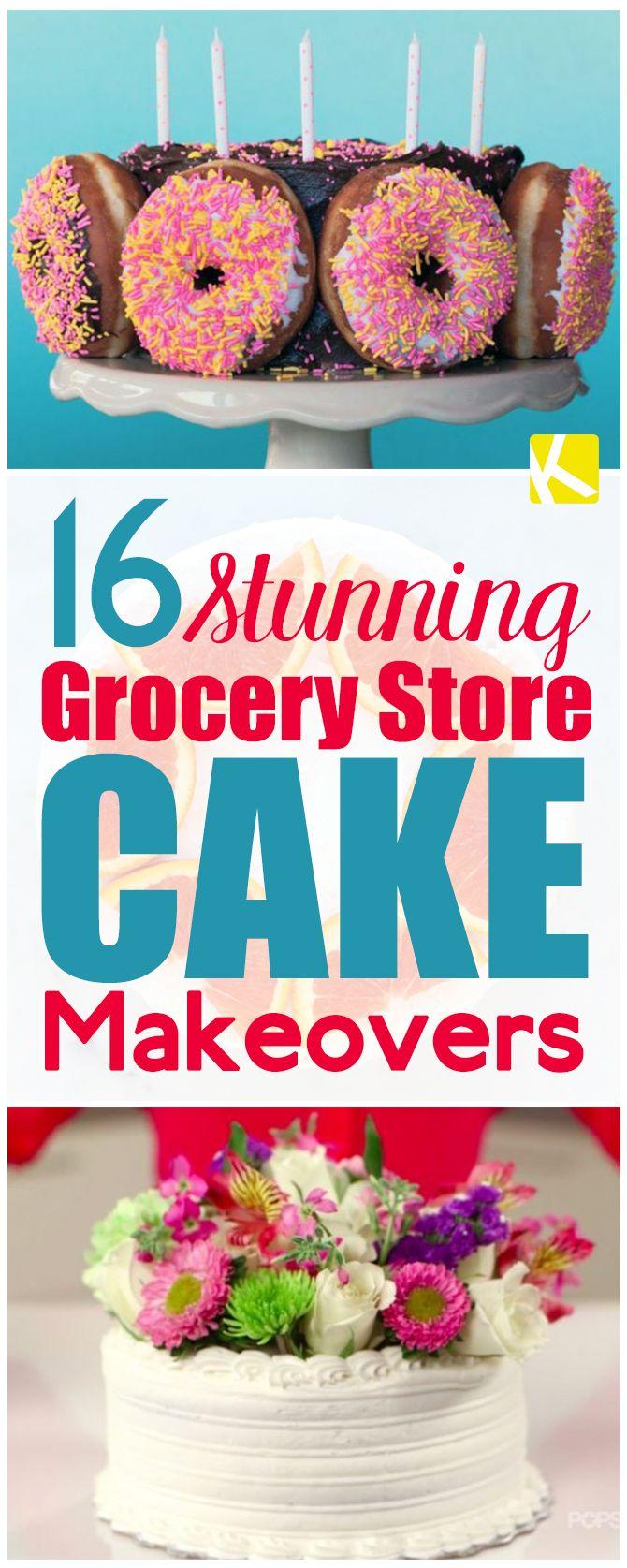 Grocery Store Birthday Cakes