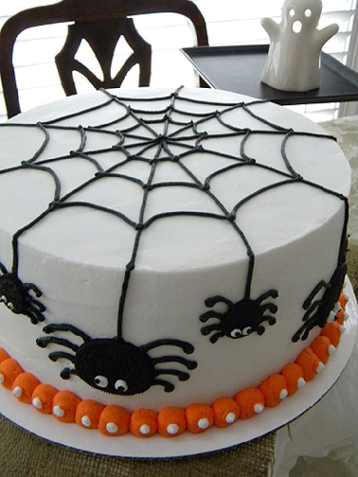 Halloween Spider Birthday Cake