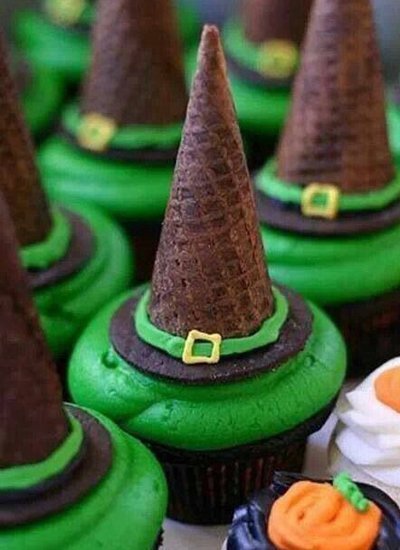 Hat Witch Cupcakeshalloween