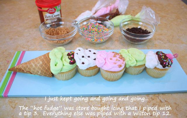 Ice Cream Cone Cupcake Cake
