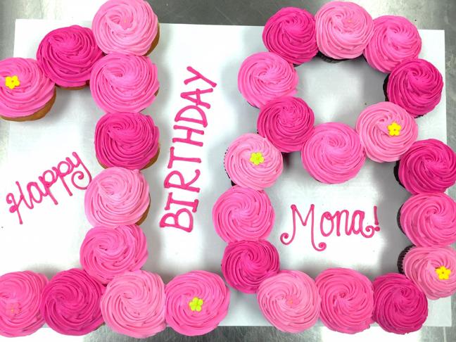 Number Cupcake Cakes