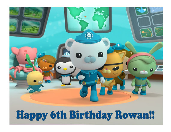 Octonauts Edible Cake Toppers