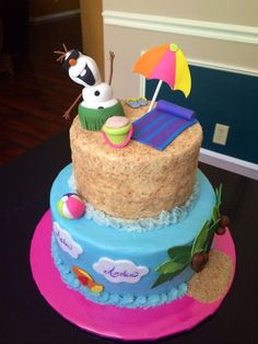 Olaf Summer Birthday Cake
