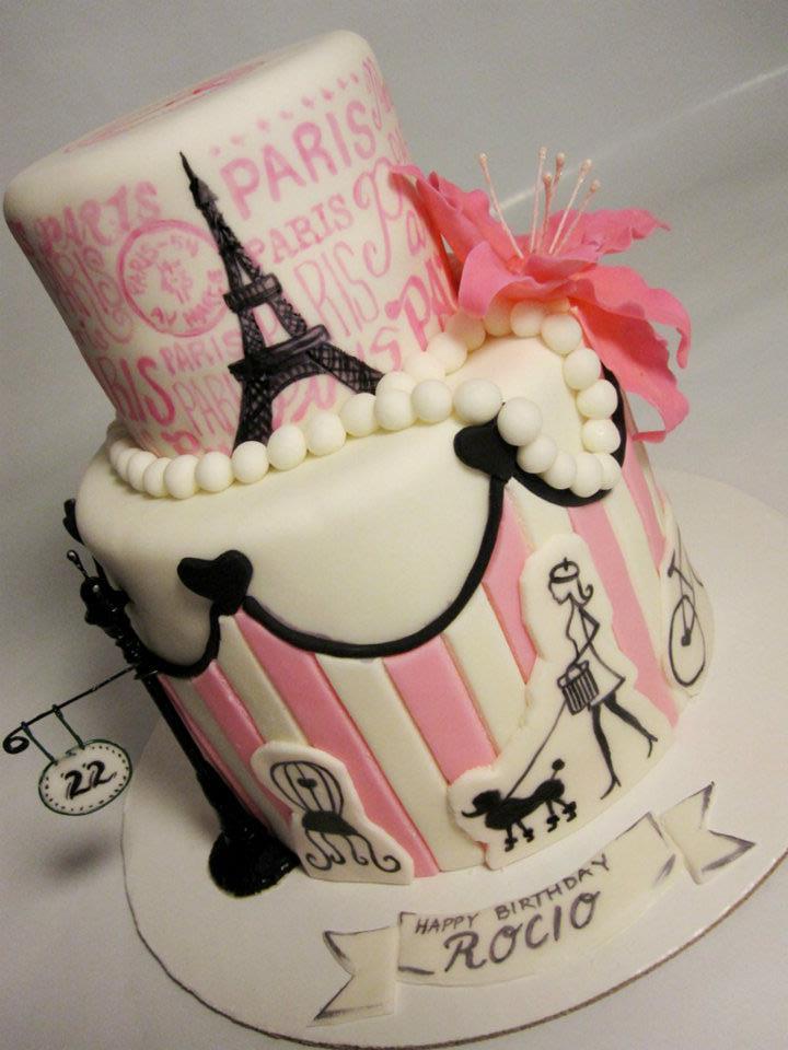 13 Photos of Paris Themed Cookie Cakes