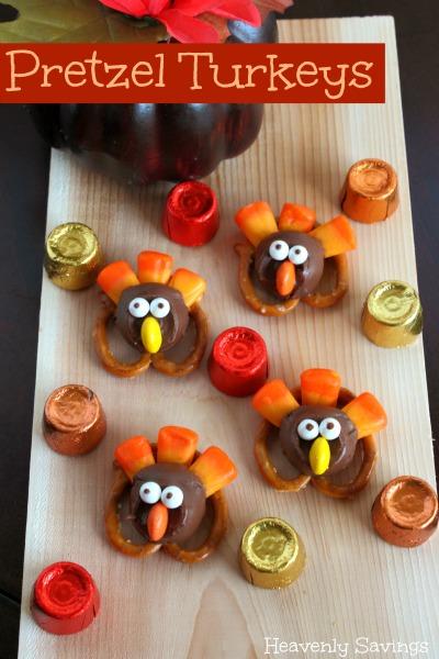 Pretzel Thanksgiving Turkeys