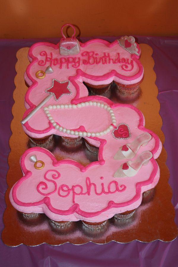 Princess Cupcake Birthday Cake