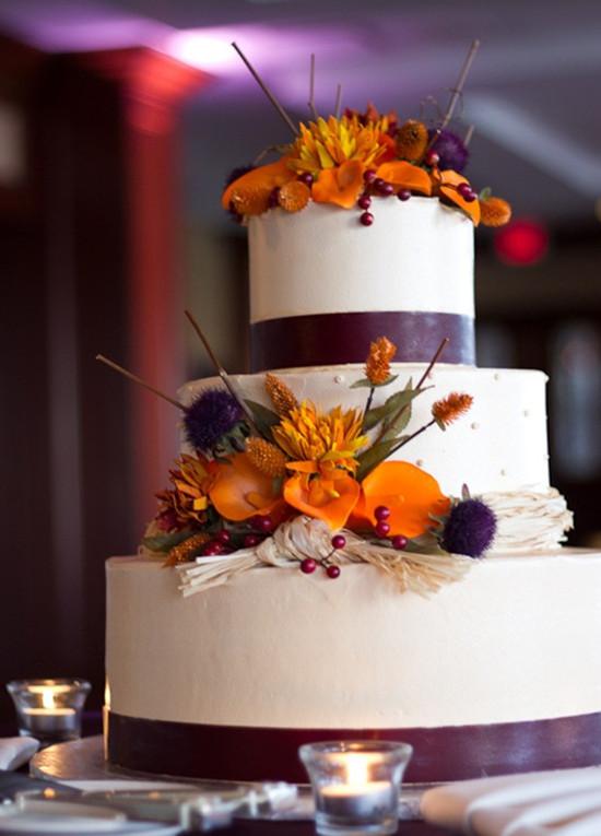 Purple Orange Fall Wedding