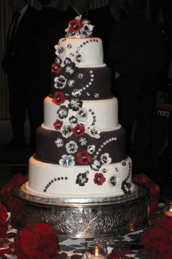Red White & Black Wedding Cakes