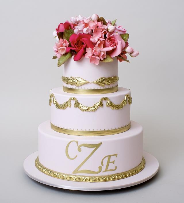 Ron Ben Israel Wedding Cake Gold