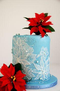 Royal Icing Brush Embroidery Cake