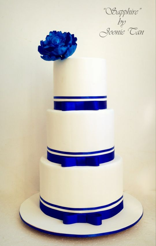 Sapphire Wedding Cake
