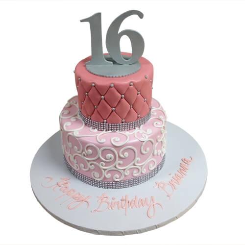 Simple Sweet 16 Birthday Cakes