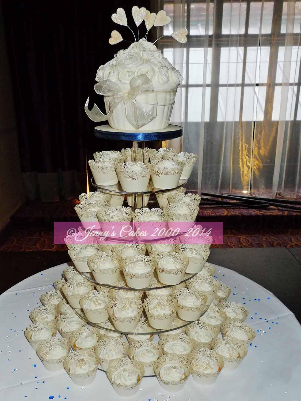 Small Wedding Cake Cupcakes