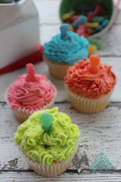 Sour Patch Cupcakes