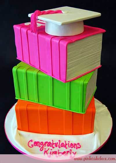 8 Photos of Stacked Graduation Cakes