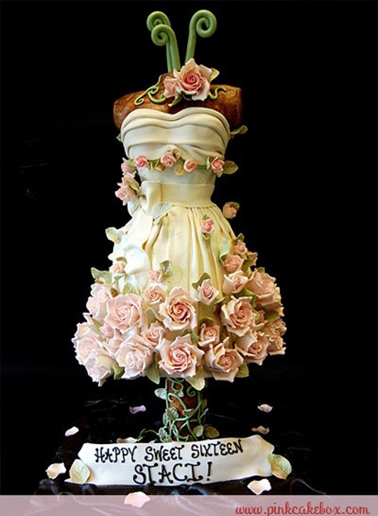 Sweet 16 Dress Cake
