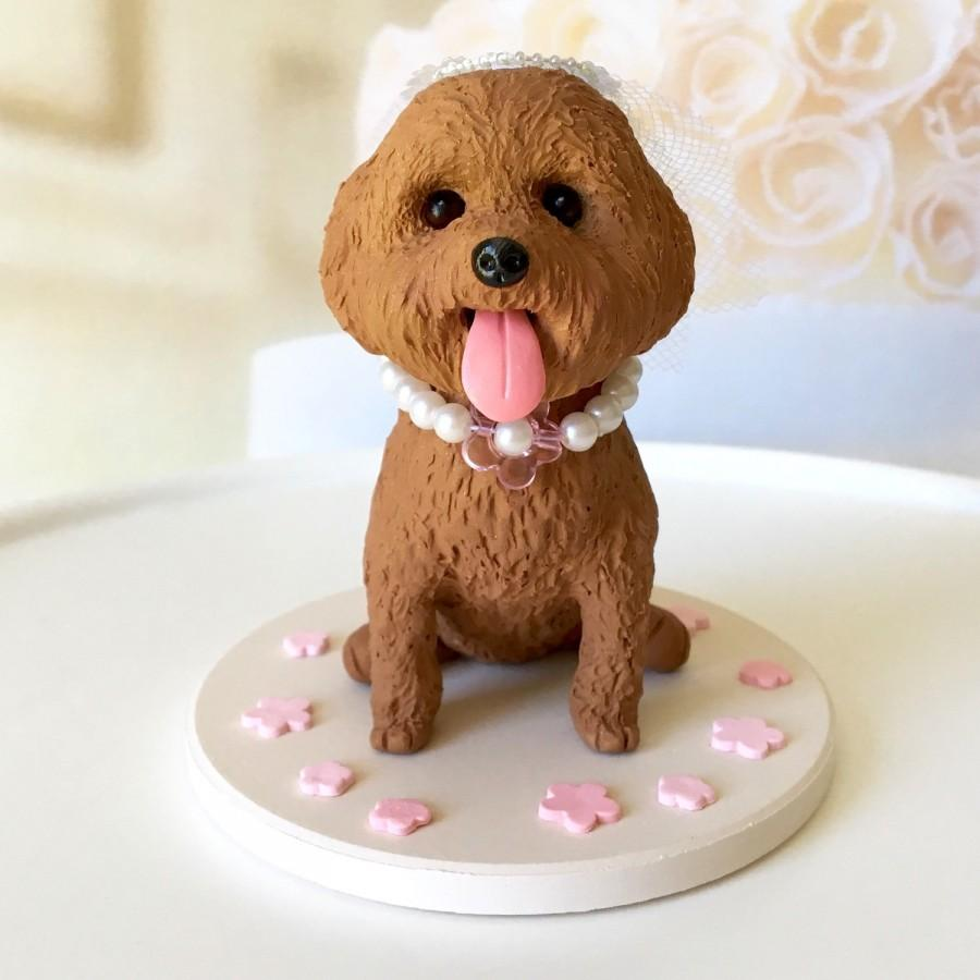 Toy Poodle Cake Topper