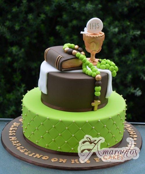 Two Tier Communion Cake