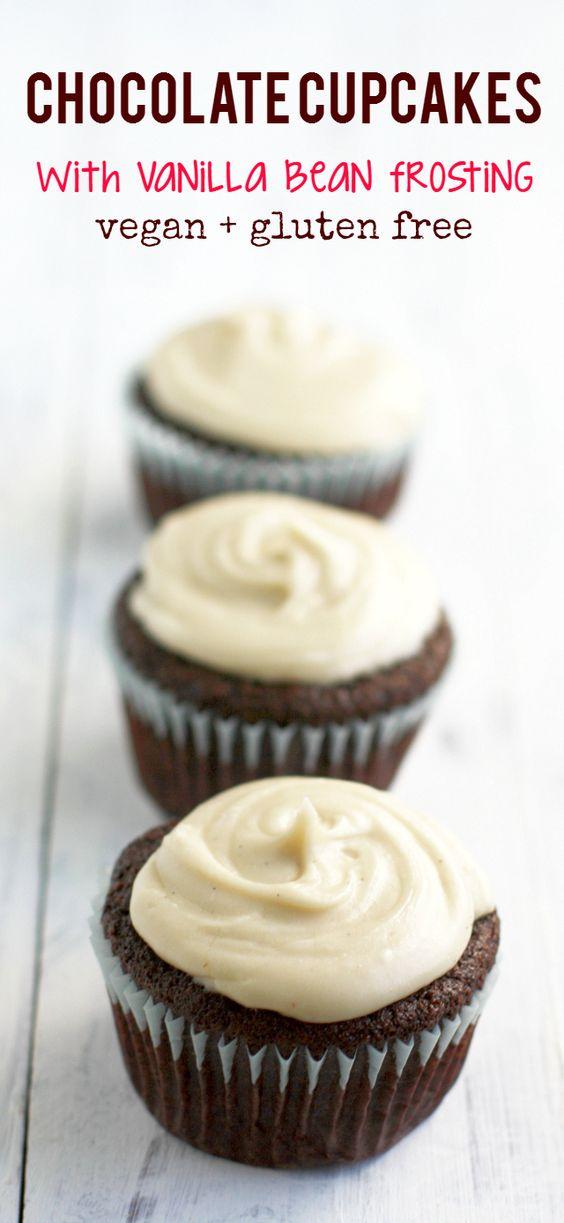Vegan Cupcakes Chocolate Frosting