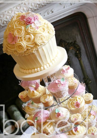 Wedding Giant Cupcake Cake